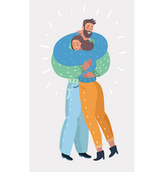 woman hugging man with tender love expression vector image