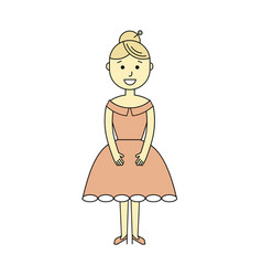 young woman in the ball gown vector image
