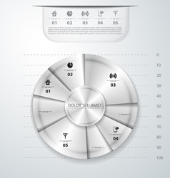 Abstract metal infographics vector image vector image