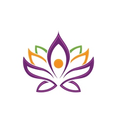lotus flowers design logo Template vector image vector image