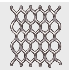 Part of iron grey mesh vector image