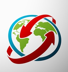 planet earth Stock vector image