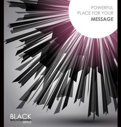 abstract dark sunburst vector image