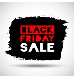 Black Friday Sale hand drawn grunge stain vector image vector image