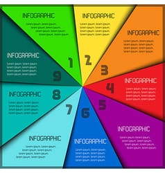 Colorful infographic template with place for your vector image vector image