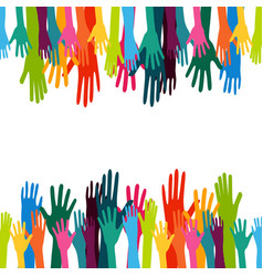 colorful up hand background vector image