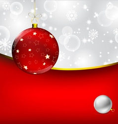 stylish Christmas bauble background vector image vector image