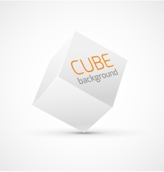 Abstract white cube background vector image vector image