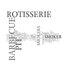 barbeque pit smoker text word cloud concept vector image