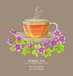 cup of malva tea vector image vector image
