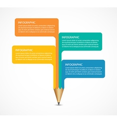 Education pencil option Infographics design vector image vector image