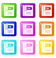 law book set 9 vector image