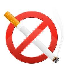sign prohibiting smoking vector image