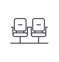 waiting room linear icon sign symbol on vector image