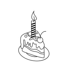 Cake icon character 03 vector
