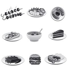 food icon set gray vector image vector image