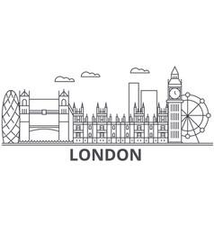 london architecture line skyline vector image