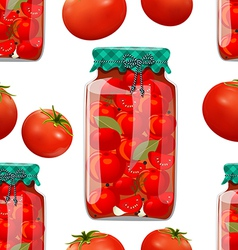 seamless texture with preserve tomato vector image vector image