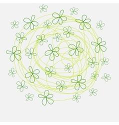 Summer flowers of doodles style handmade print vector image