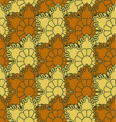 The background of beautiful seamless patterns vector image