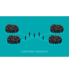 3d isometric of a corporate hierarchy structure a vector