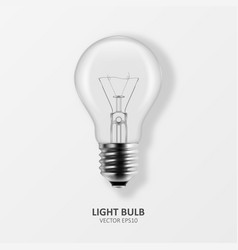 3d realistic off light bulb icon closeup vector image