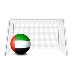 A soccer ball with the United Arab Emirates flag vector