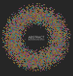 abstract colorful dotted circle frame vector image