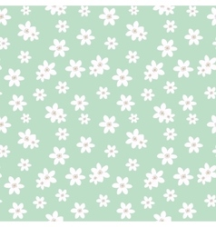 Abstract Simple Flower Seamless Pattern Background vector image