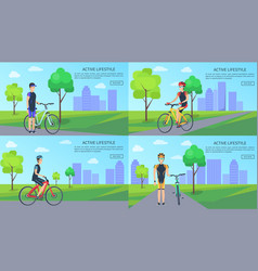 active lifestyle collection vector image
