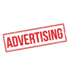 Advertising rubber stamp vector