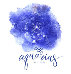 Astrology sign aguarius vector