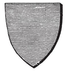 Azure shield is represented horizontal vector