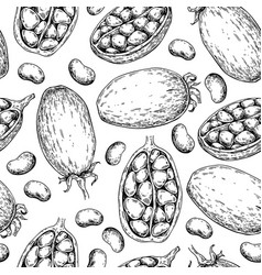 baobab seamless pattern superfood drawing vector image