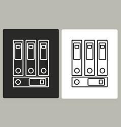 binder - icon vector image