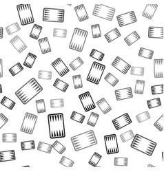 Black backgammon board icon isolated seamless vector