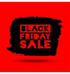Black Friday Sale grunge stain on red background vector