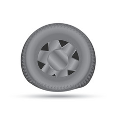 broken car wheel vector image