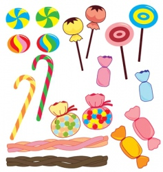 Candy collection vector