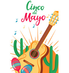 cinco de mayo 5th may a festive poster to the vector image