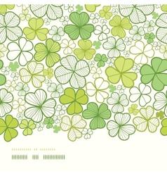 Clover line art horizontal decor seamless pattern vector