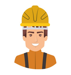 Colorful portrait of half body firefighter vector
