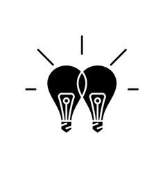 Creative synergy black icon sign on vector