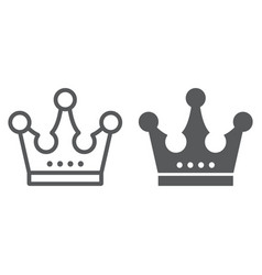 crown line and glyph icon jewellery and accessory vector image