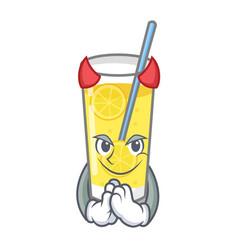 Devil lemonade mascot cartoon style vector