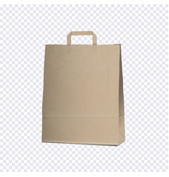 empty carrier brown bag on transparent background vector image