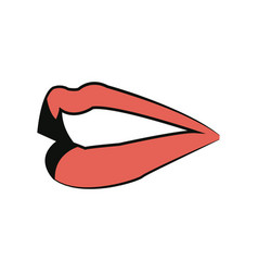 female lips mouth symbol icon design vector image