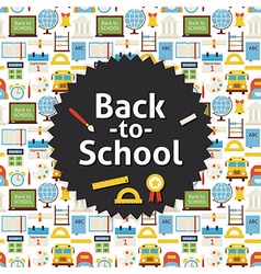 Flat Back to School Background vector