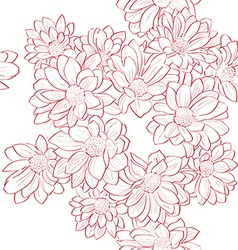 flowers bouquet pattern vector image