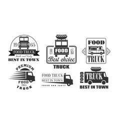 food truck best in town premium retro logo vector image
